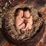 Аксессуары для фотосессии новорожденных близнецов