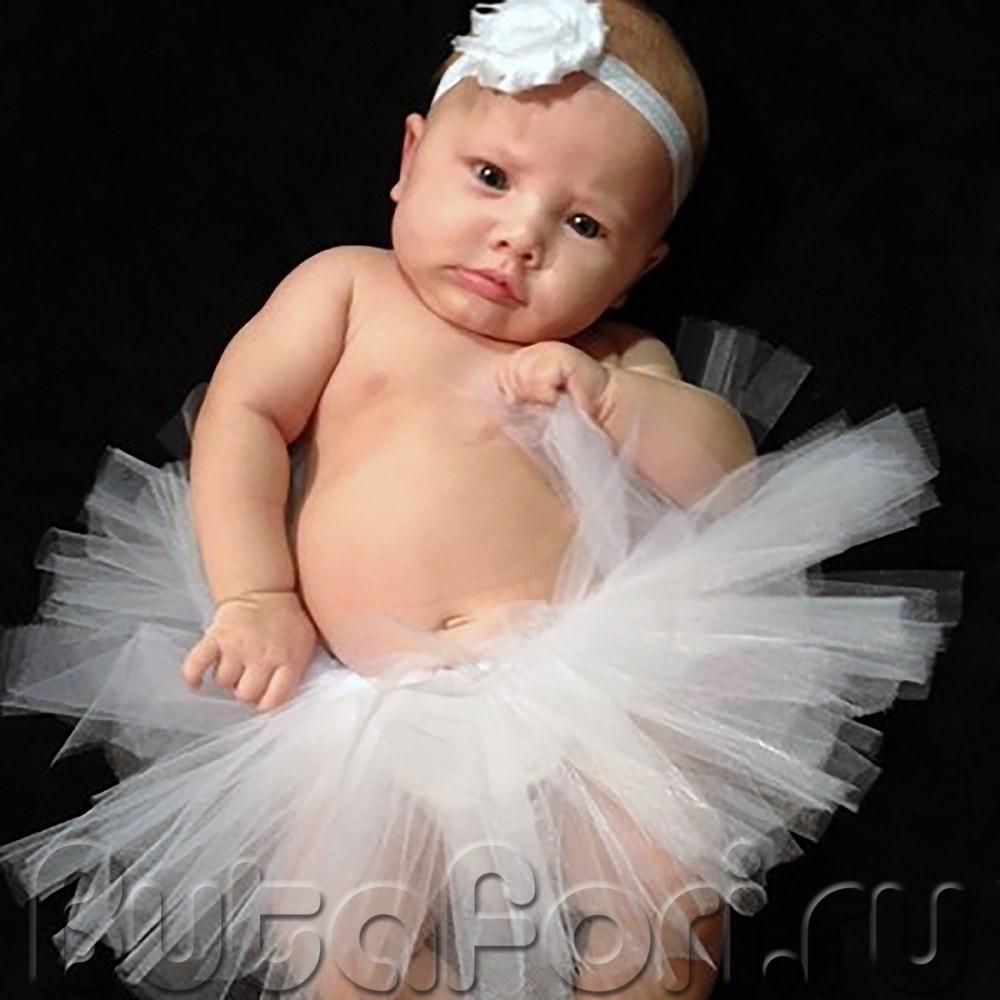 Юбка пачка на новорожденного