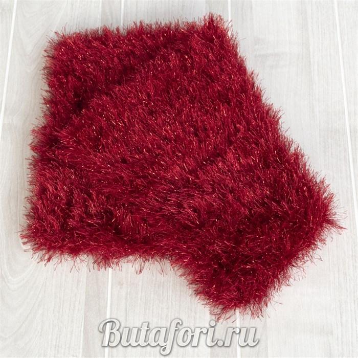 Красный вязаный коврик для фотосессии