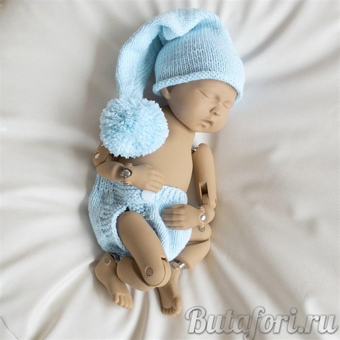 Голубой костюмчик для фотосессии новорожденных