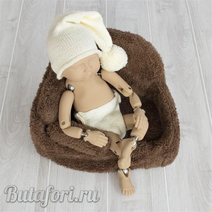 Молочный костюмчик для фотосессии новорожденного