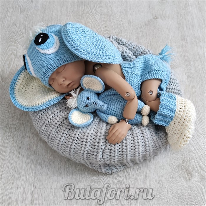 Комплект одежды для фотосессии новорожденных - Слонёнок Илларион