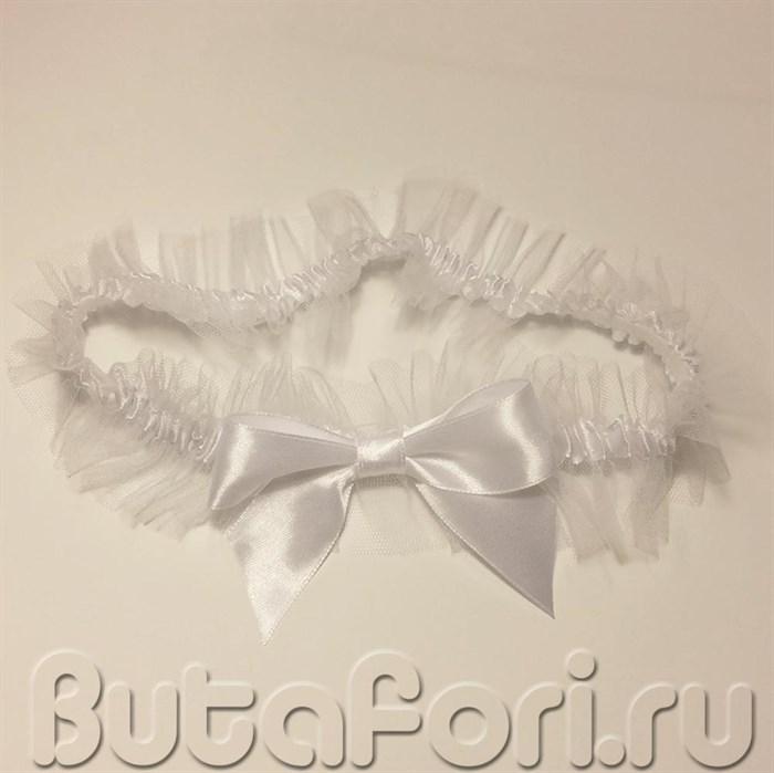 Нежная подвязка невесты на свадьбу