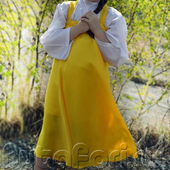 Сарафан детский желтый