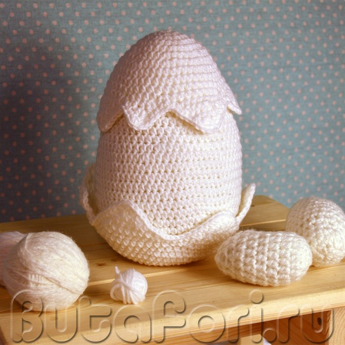 Набор вязаных яиц для newborn съемки