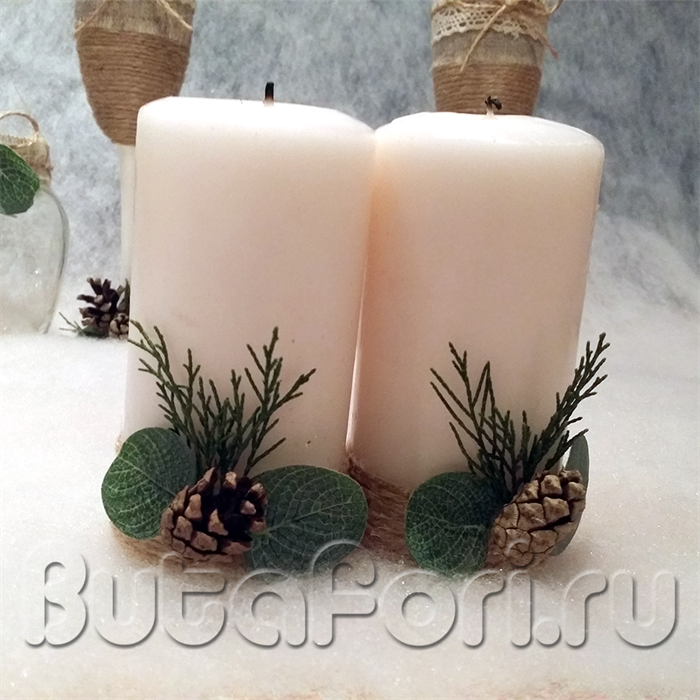 Свечи для стола молодоженов