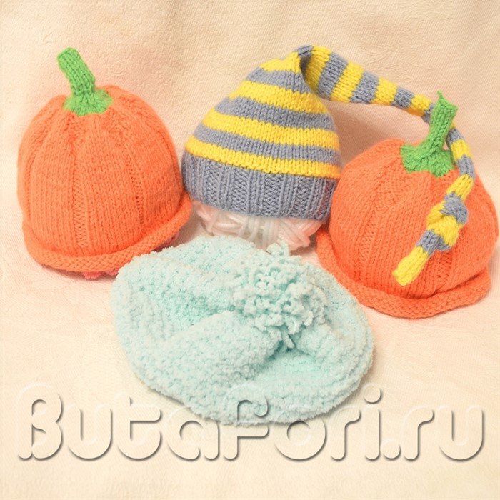 Реквизит для фотосессии новорожденных - Шапочки