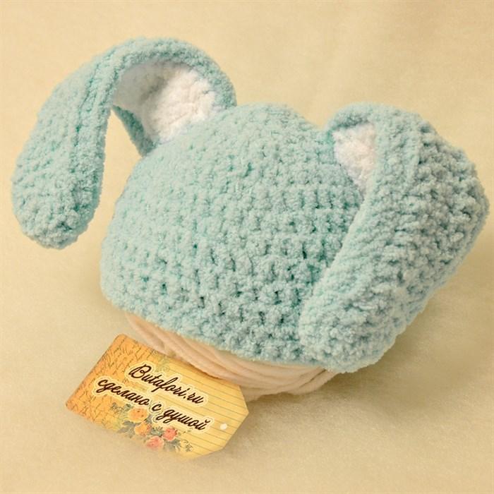Шапочка для фотосессии новорожденных Кролик