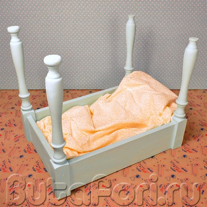 Бирюзовая кроватка для фотосессии
