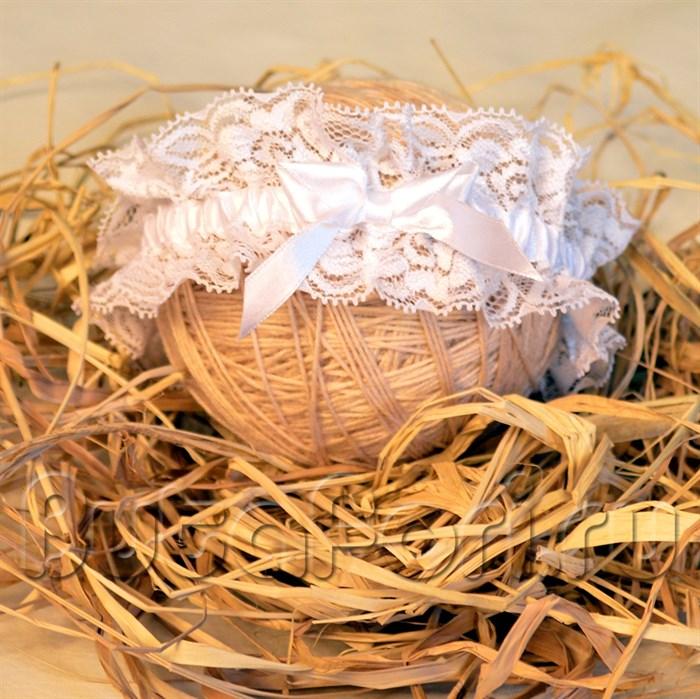 Кружевная повязка на голову для новорожденного