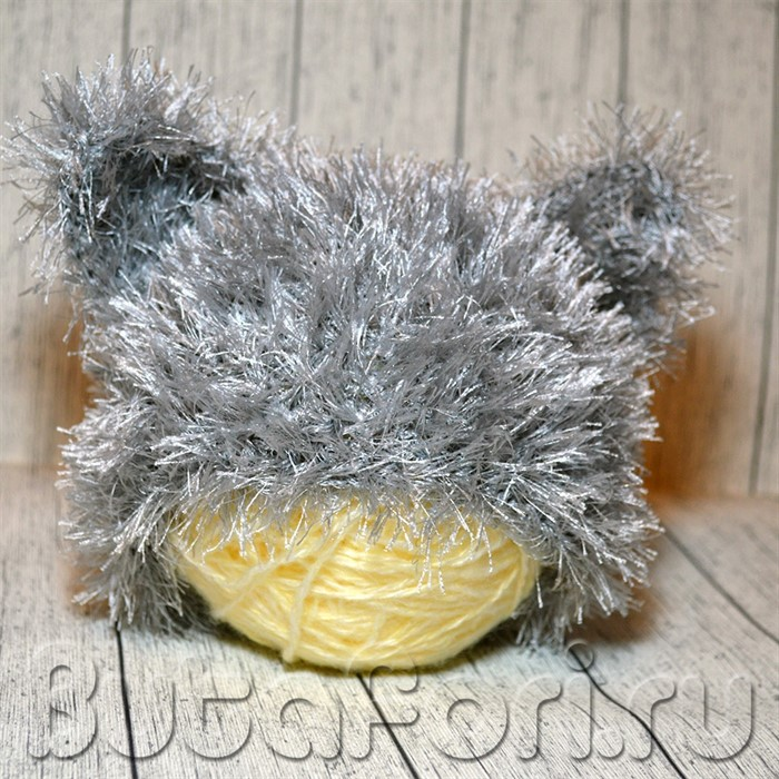 Шапочка для фотосессии новорожденных Волчок