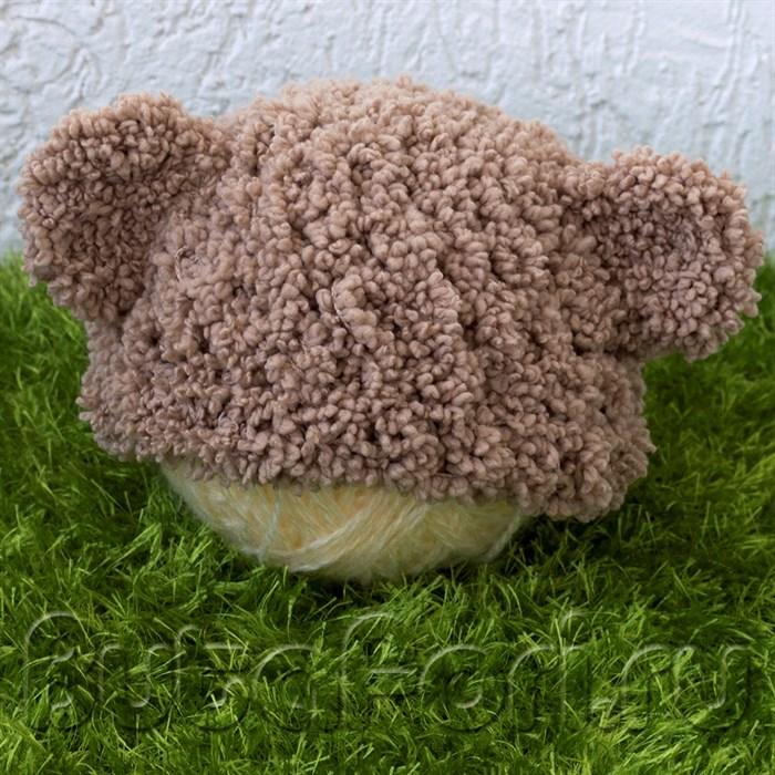 Шапочка для фотосессии новорожденных Мишка
