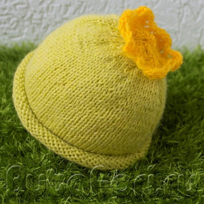 Шапочка для фотосессии новорожденных Кабачок
