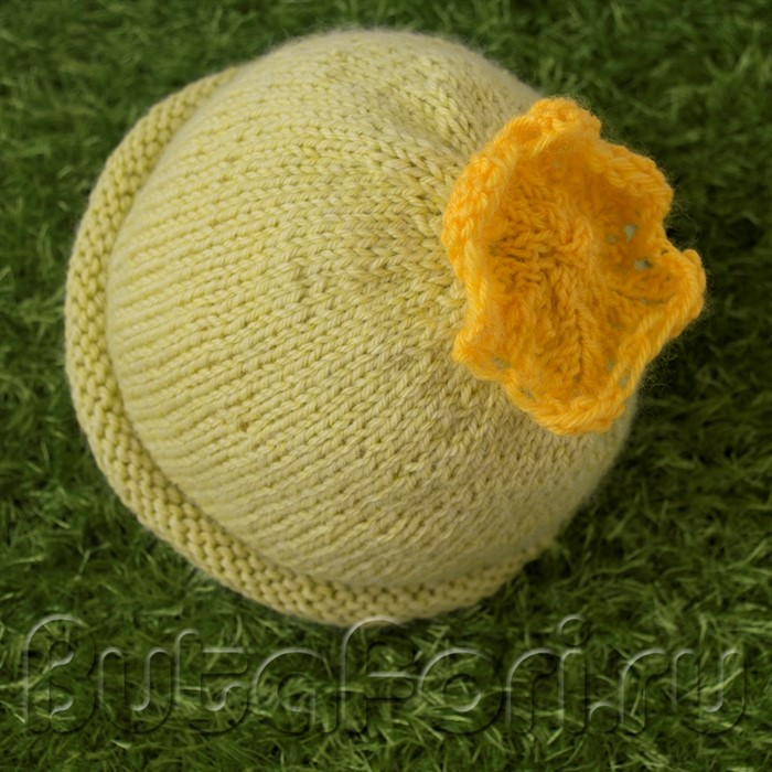 Вязаная крючком шапочка Кабачок для newborn