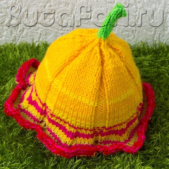 Шапочка для фотосессии новорожденных Желтая