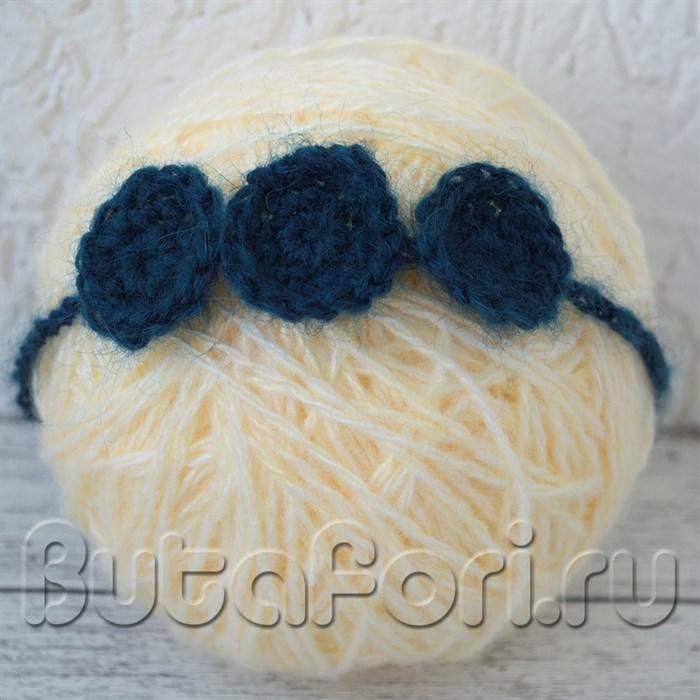 Синяя повязочка для новорожденных