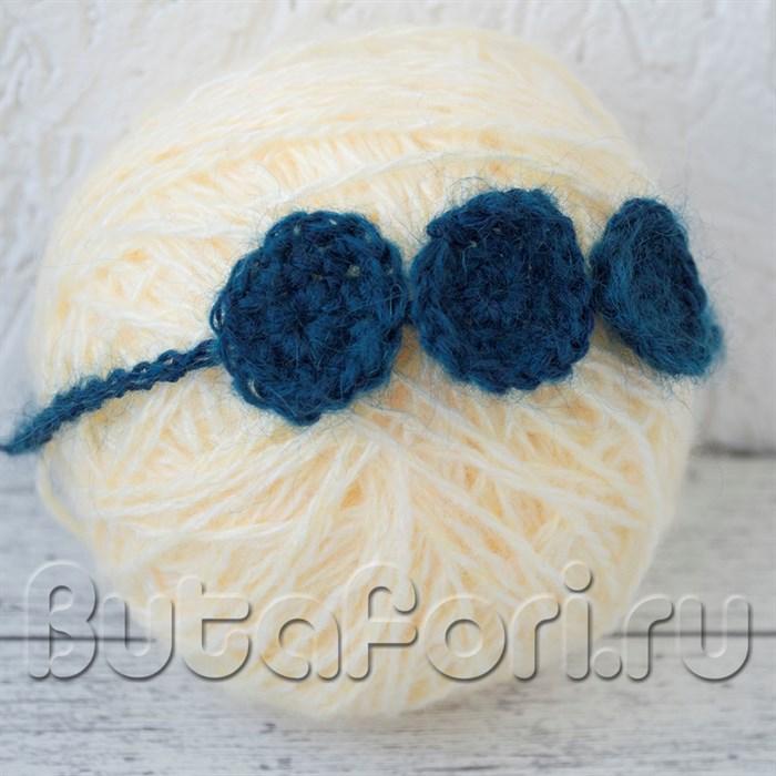 Повязочка синяя для фотосессии новорожденных