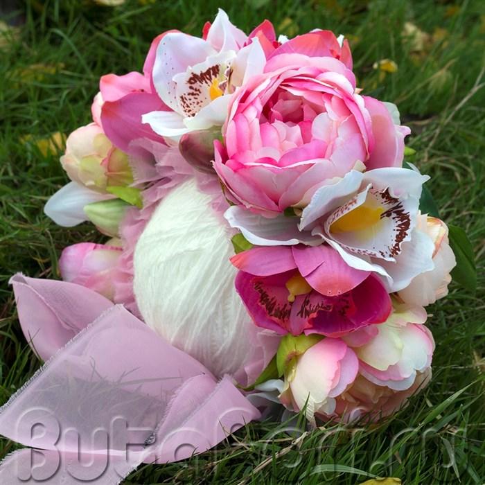 Шапочка клумба Розовая