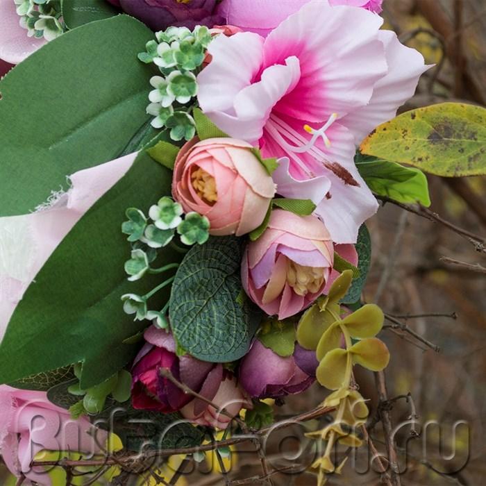 Реквизит для фотосессии новорожденных - Шапочка из цветов