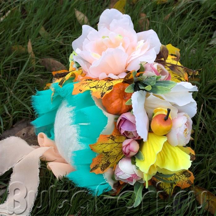 Цветочная шапочка для фотосессии Осенняя
