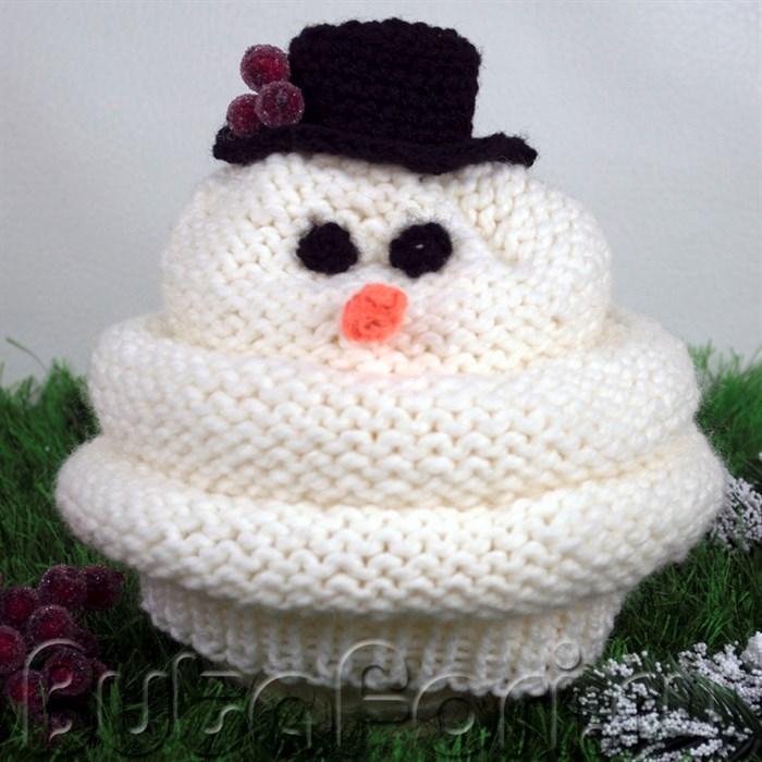 Большая шапочка Снеговик