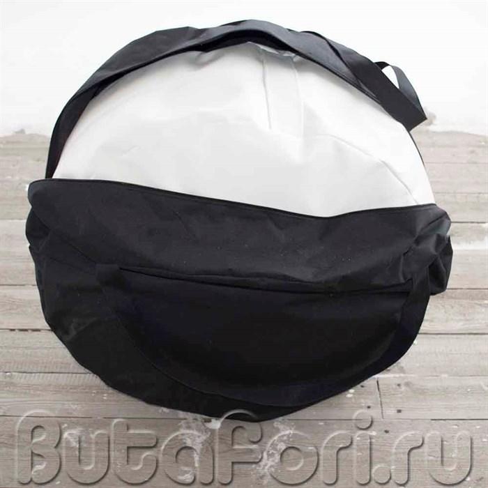 Черный чехол для круглого бин-бэга