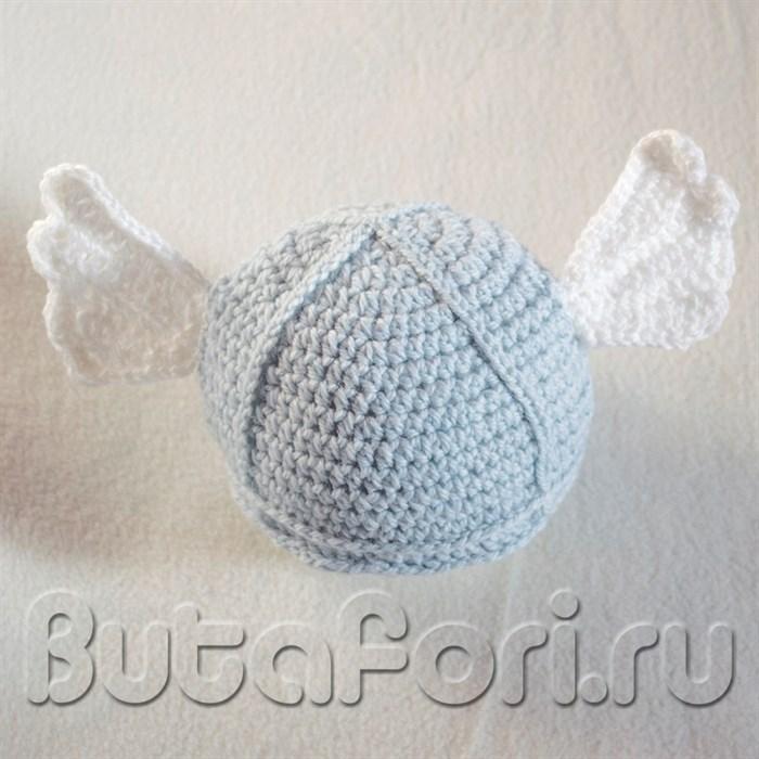Шлем викинга с крылышками для новорожденного
