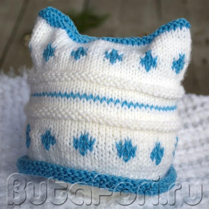 Зимняя шапочка для новорожденных Январек
