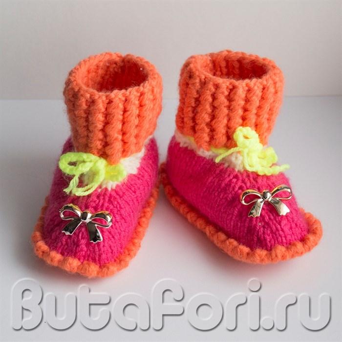 Ботиночки для фотосессии новорожденных Бантики