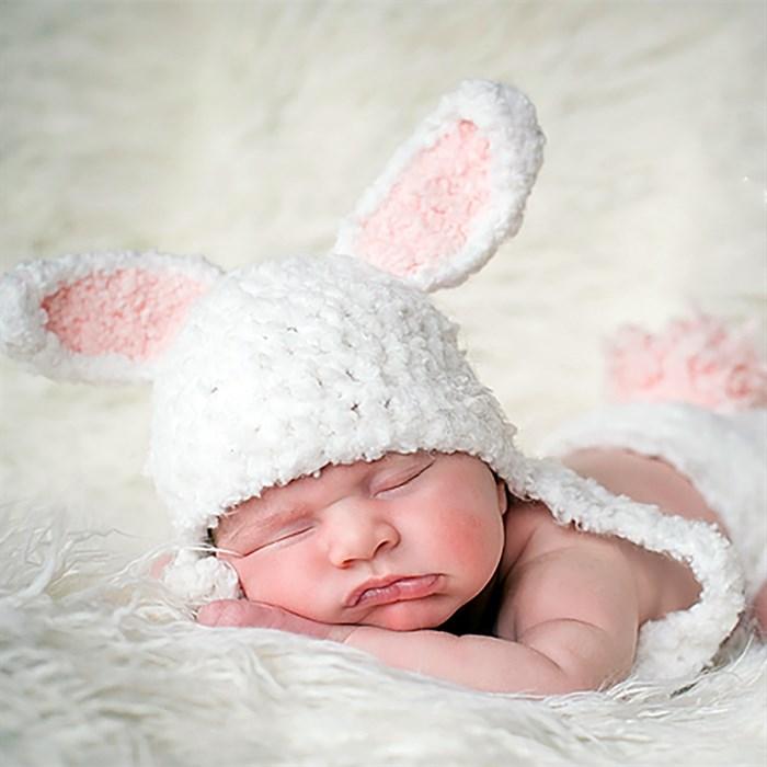 Костюмчик Пасхального кролика для фотосессии новорожденного