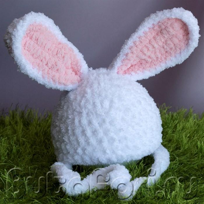 Шапочка пасхального кролика для фотосессии новорожденного