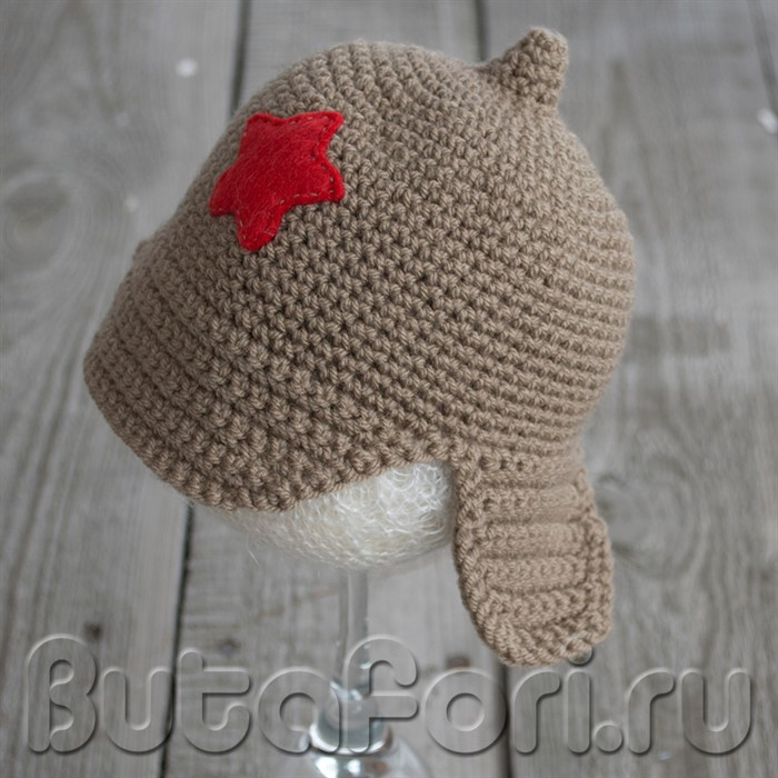 Шапка красноармейца для фотосессии новорожденного