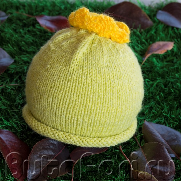 Одежда для фотосессии новорожденного - Шапочка Кабачок