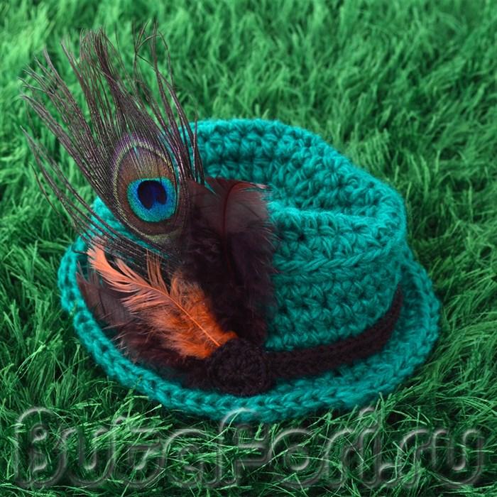 Тирольская шляпа для фотосессии новорожденных