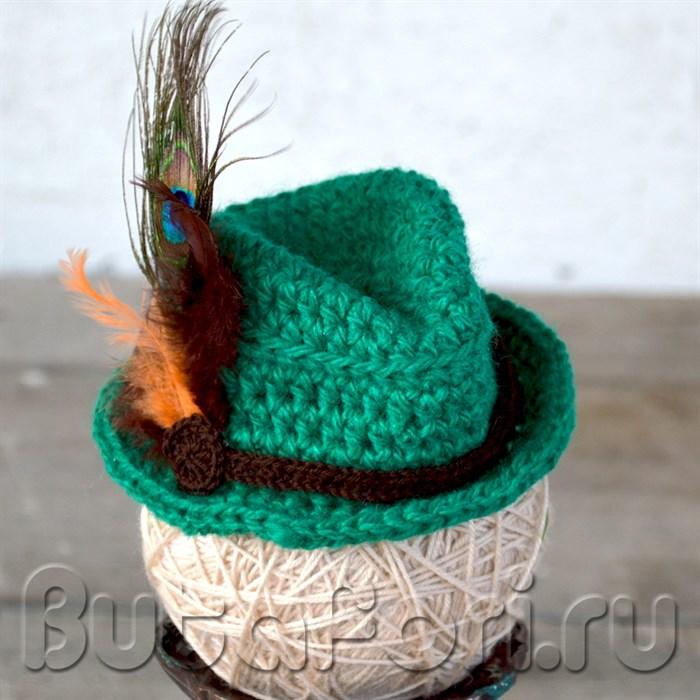Шляпа егеря для новорожденного