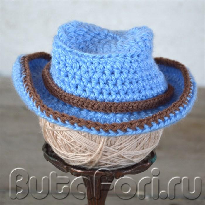 Голубая шляпа для фотосессии новорожденных