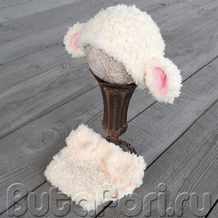 Костюм овечки для фотосессии новорожденного