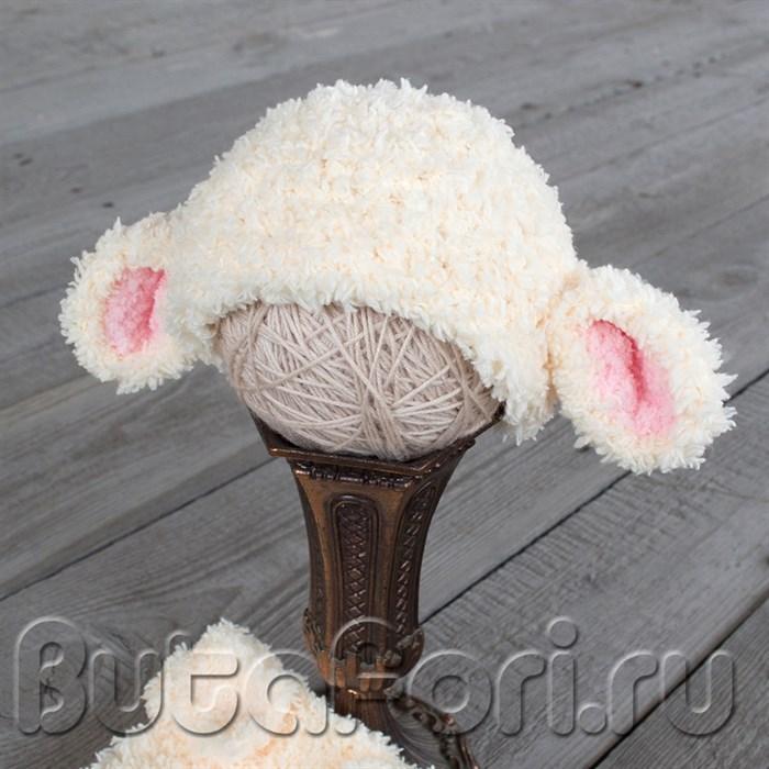 Вязаная шапочка Овечки