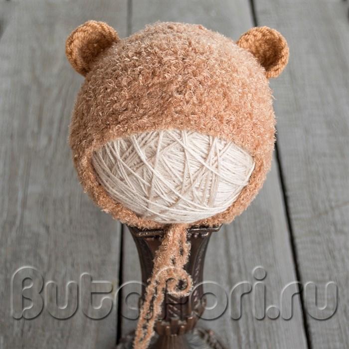Вязаная шапочка Бурый медвежонок