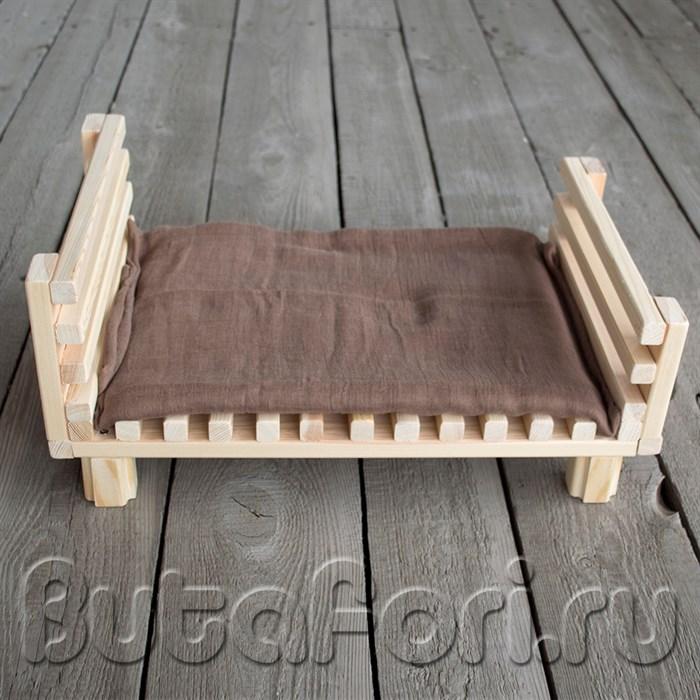 Аксессуары для фотосессии новорожденных - деревянная кроватка