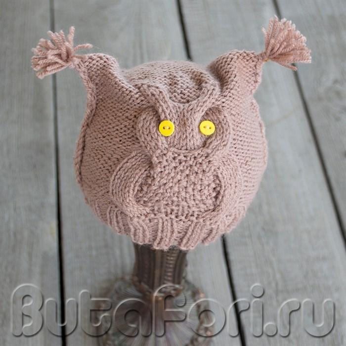 Одежда для фотосессии новорожденных - шапочка Сова
