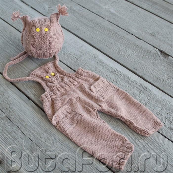 Одежда для фотосессии новорожденного - костюм Совушка