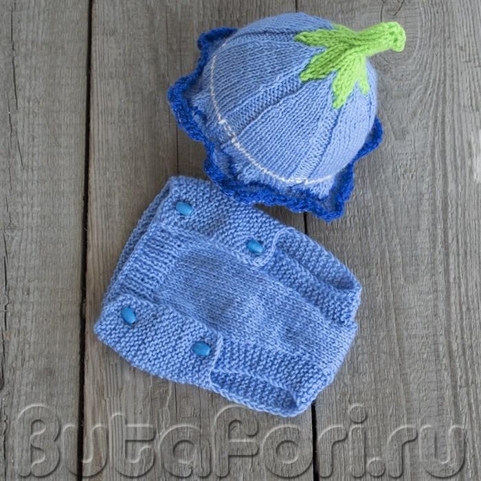 Вязаный костюм для фотосессии новорожденного - Колокольчик