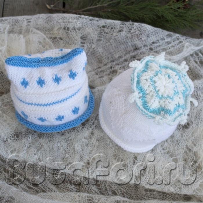 Новогодний набор шапочек для фотосессии новорожденных