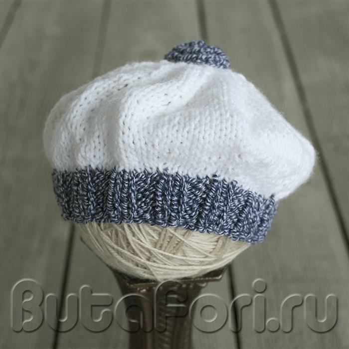 Вязаная шапочка в морской тематике для новорожденных