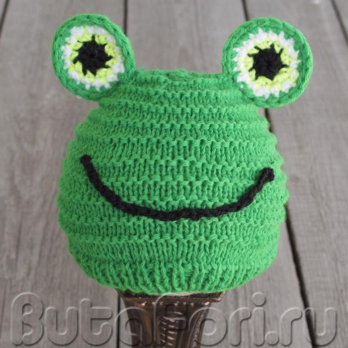 Вязаная шапочка Зеленого лягушонка