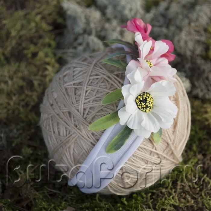 Повязка из цветов для newborn съемки
