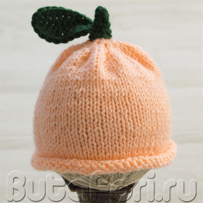 Шапочка Персик для младенца