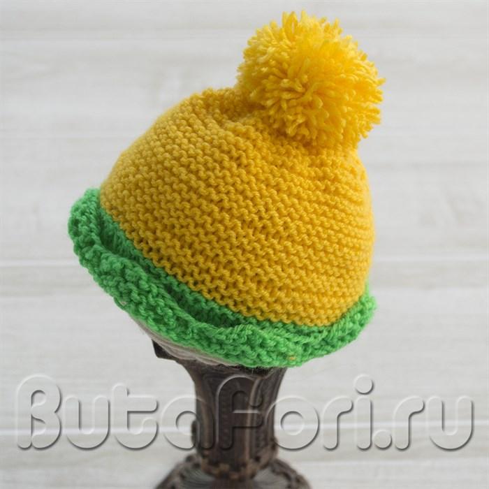 Вязаная шапочка Одуванчик для фотосессии