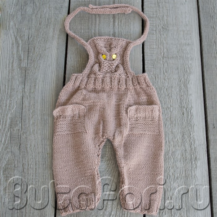 Вязаный комбинезон с Совой для фотосессии новорожденного